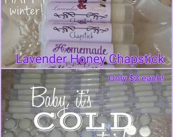 Glossy Homemade Lavender Lip Balm