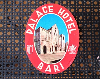 Vintage Palace Hotel Bari Decal