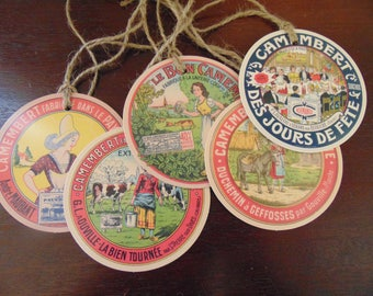 Special COLLECTION advertising french camembert: 29 labels 9 cm
