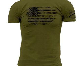 American Vintage-Grunt Style graphic t-shirt