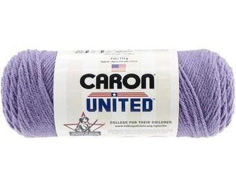Hilado de acrílico lila púrpura Caron Unido hilados 6024