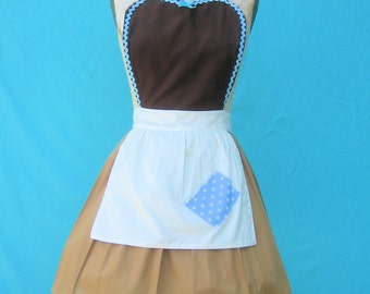 apron CINDERELLA  Work dress  Cinderella APRON  Princess style  womens full Apron Cinderella costume