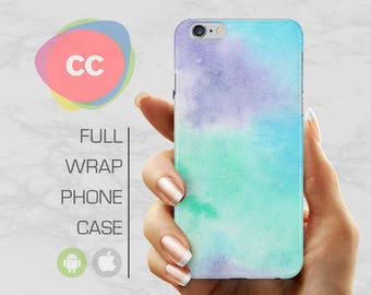 Purple Blue Phone Case - iPhone 8 Case - iPhone 7 Case - iPhone 8, 7, 6, 6S, 5S, 5 Cases - Samsung S8, S7, S6 Case - iPhone Covers - PC-288