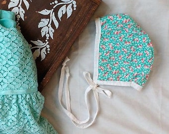 Blue Floral with White Reversible