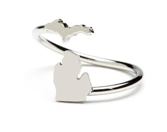 Michigan Ring - Stainless Steel - Michigan jewelry