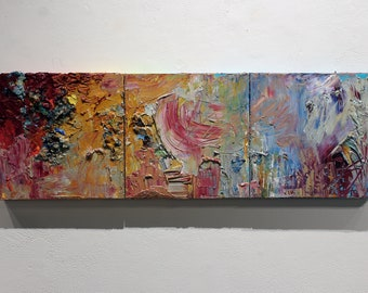 Oil Painting, Abstract Painting, Triptych