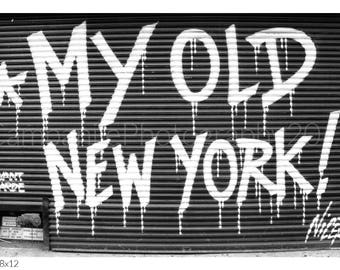 My Old New York!, NYC Graffiti Art by Nicer, Black And White Photography