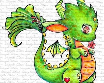 Dragoon Digital stamp by Sasayaki Glitter - Line art only