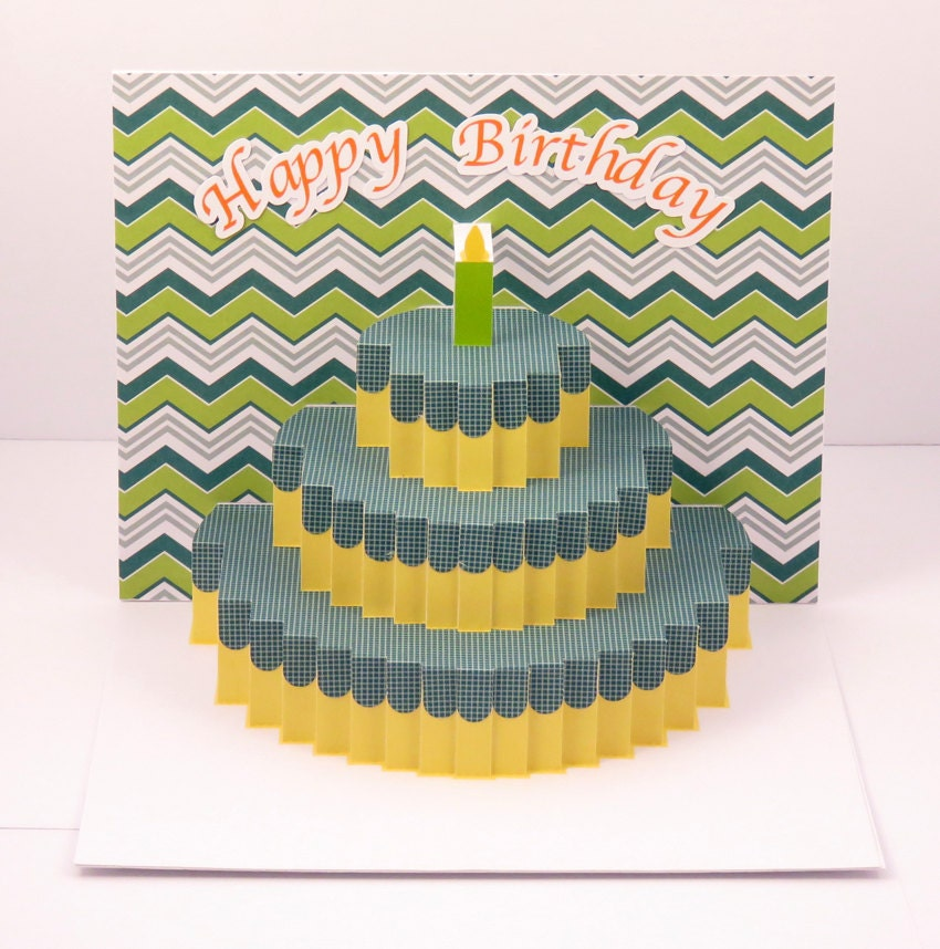 Pop Up Birthday Card Handmade Personalized Birthday Card