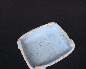 Light Blue Speckled Trinket Dish