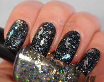 Transsexual Transylvania - custom glitter topper Rocky Horror inspired nail polish