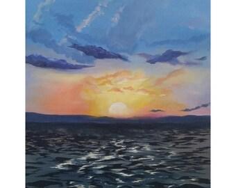 """16""""x20"""", """"Key West Sunset"""""""
