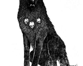 Wolf Shaman A4 Giclèe print on 225gsm fine art paper