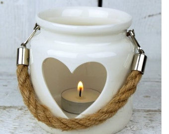 Small heart tealight lantern