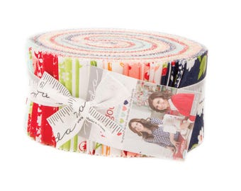 The Good Life Fabric Jelly Roll by Bonnie and Camille for Moda Fabrics