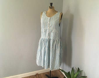 1990s Romper Dress Jumper Overalls by S. Roberts