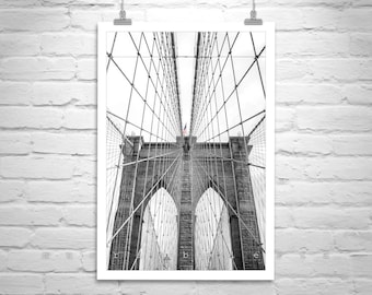 Brooklyn Bridge Photo, New York City Art, Black and White Brooklyn Bridge Art, Manhattan Photo, NYC Gift, Brooklyn Bridge Gift, NYC Art
