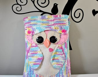 Crochet Pattern: Cute Owl Tablet Cover/Case
