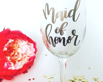 Maid of Honor Decal | Maid of Honor Cup Decal | Wedding Decal | Bachelorette | Bachelorette Party Favor | Maid of Honor gift