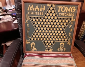 Vintage Chinese Checkers Board..No Marbles...Great wall Decor Or table top