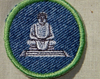 Buddha Iron-on Patch / Merit Badge