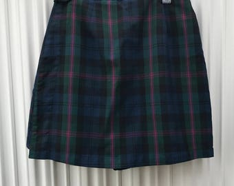 Plaid Skort / School Girl Skort / Mini Skort