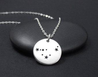 Capricorn Constellation Necklace Sterling Silver Capricorn Constellation Charm Pendant, Zodiac Necklace, Zodiac Jewelry