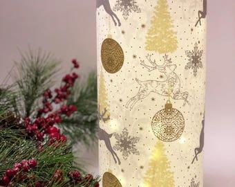 Christmas Luminary - Christmas Centerpieces for Tables - Christmas Light Decoration - Fairy Light Centerpiece - Luminary Lamp - String Light