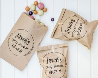 Baby Shower Favors - Popcorn Bags, Candy Buffet Bags, Favor Bags, Baby Sprinkle Favors, Gender Reveal