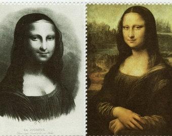 1 Sheet La Joconde (Mona Lisa) Artistamps - Faux Postes - Faux Postage - Rare - Stickers - Seals - Mail Art     (F-Stkr)