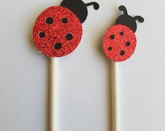 Ladybug cupcake toppers/Birthday/Baby shower