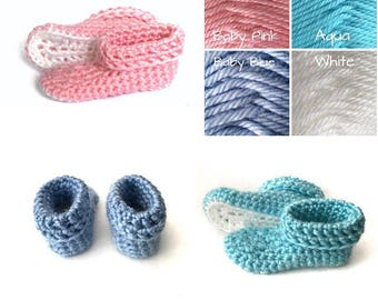 Crocheted Newborn Slippers, Babys First Shoes, Soft Baby Shoes, Baby Gift, Baby Shower, Baptism, Christening
