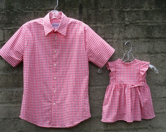 GIRLS DRESS- Father daughter matching shirt and dress! (sold separately) Size 6 mos- 5T. Perfect for birthdays, showers, or family photos!
