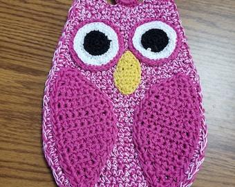 Heavy Duty Crocheted Owl Pot Holder