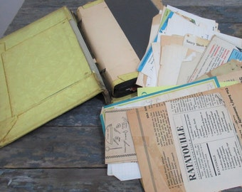 Vintage Handwritten Recipes, Grandma's Kitchen, Family Cookbook, Recipe Clippings, Housewarming Gift