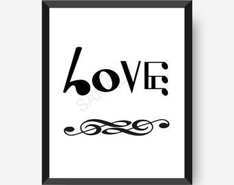 Music Art, Love Notes, Music Note Art, Music Notation Art, Music wall art, Music Note Art Prints, Music love note art,Printable artwork,8x10