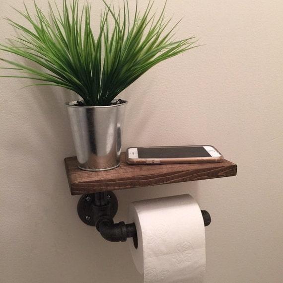 Porte Papier Toilette Industriel Avec étagère Tuyau De - Porte papier
