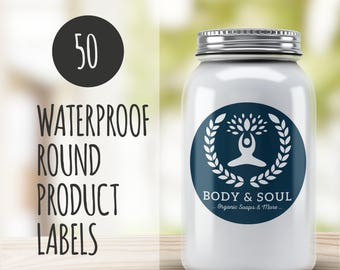 Round Product Labels  50-Jar Labels, Round Labels, Round Stickers, Custom Round Stickers, Favor Labels, baby shower favor label