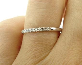 Pave Eternity Diamond Band, Diamond Wedding Band, 14K Diamond Ring, Pave Wedding Band, Engagement Ring, Bridal Ring, Pave diamond ring