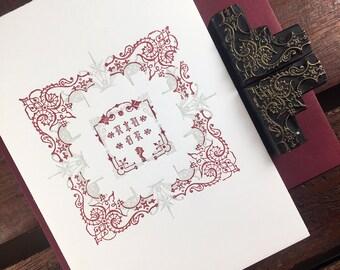 R U Okay letterpress card