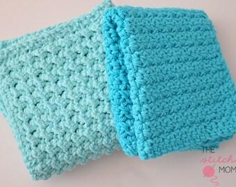 PDF Crochet Pattern - Easy Textured Washcloths