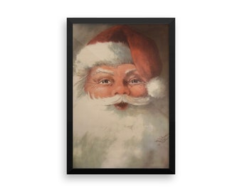 The Real Santa framed poster print