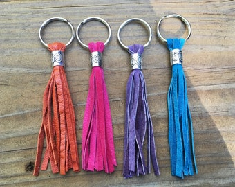 Leather or suede tassels  made from