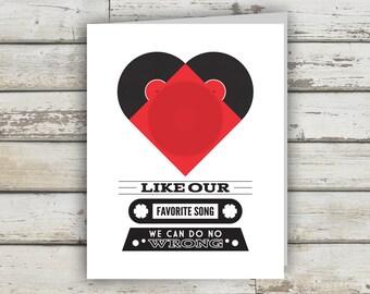 Valentine, Valentine Card, Valentines Day, Music Valentine, Valentines Day Card, Valentines Card him, Valentines Card Funny, Music Gift