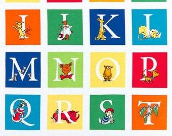 PANEL Robert Kaufman Dr Suess ABC Adventure Alphabet Panel (Per Panel)
