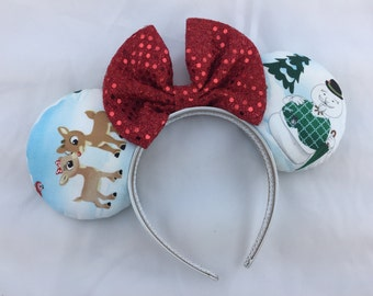 Classic Rudolph the Red Nosed Reindeer Minnie Mouse Ears