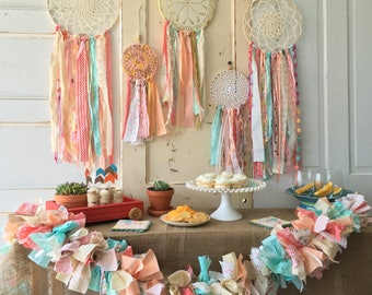 """Dream Catcher, Custom Color dreamcatcher for Decor, Baby Shower or Boho Wedding shower or Ceremony, 12"""" handmade Party Decoration"""