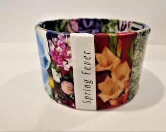 Tape Roll Bracelet, Bangle Bracelet, Upcycled Jewelry, Cardboard bangle, Paper bangle, One of a kind,Wearable Art, Diane Marie,Free Shipping
