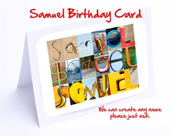 Samuel Personalised Birthday Card