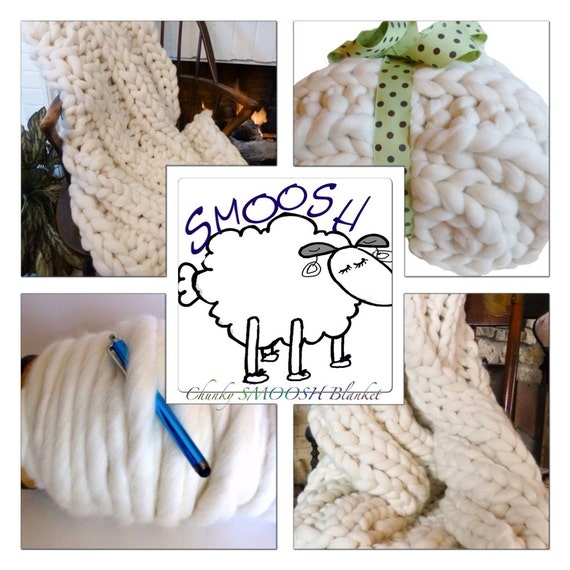 KNIT-KIT Yarn REFILL! Chunky Blanket/Scarves, Tutorial, Patterns,